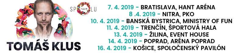 Tomáš Klus 2019 Spolu TOUR